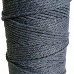 hilo de macrame gris oscuro