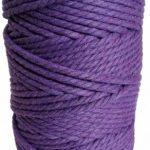 hilo de macrame lila oscuro