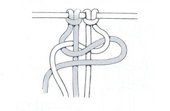 nudo plano macrame