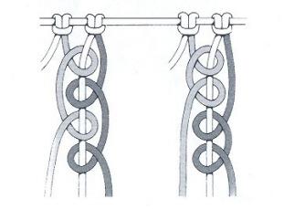 nudo cadena macrame