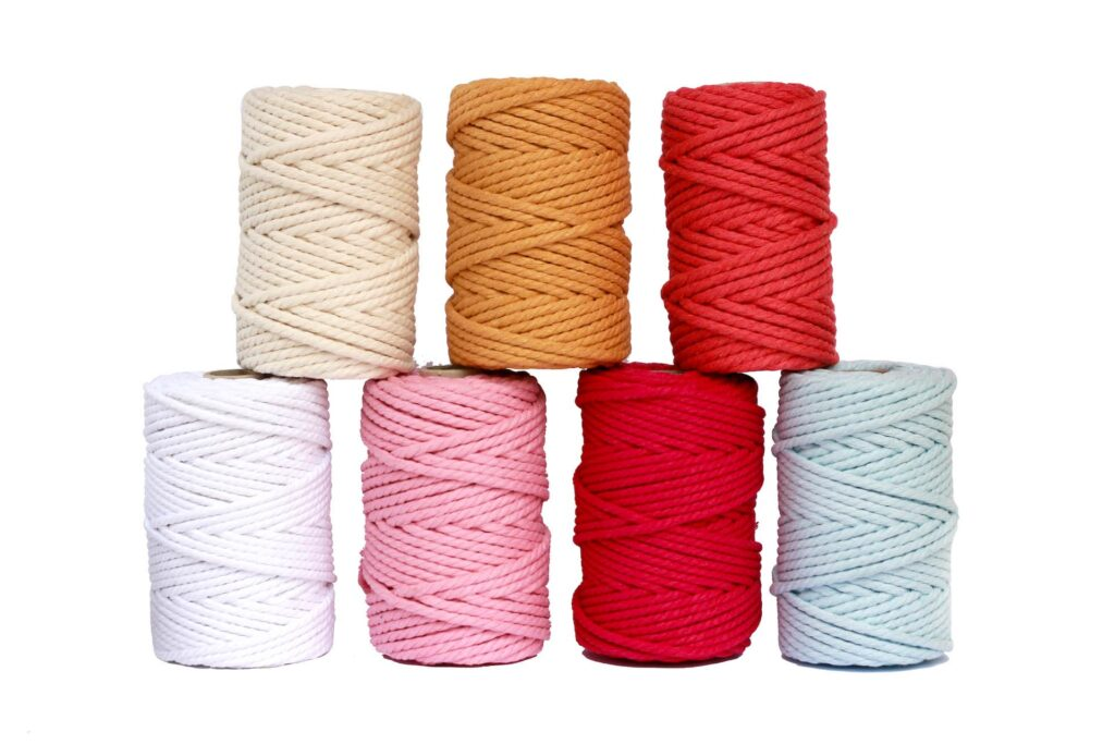 hilo de macrame de colores