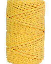 hilo de macrame amarillo