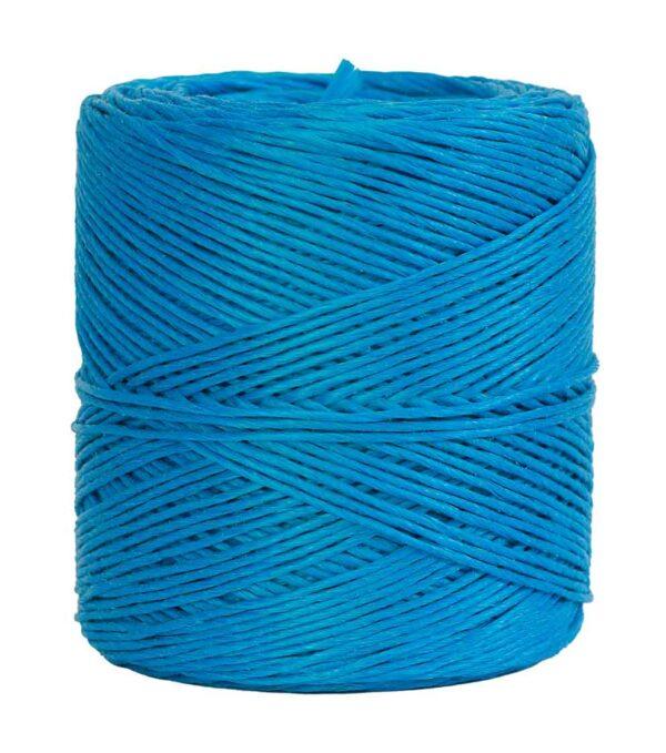 hilo de rafia azul