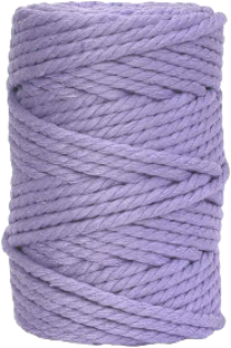 hilo de macrame lila claro